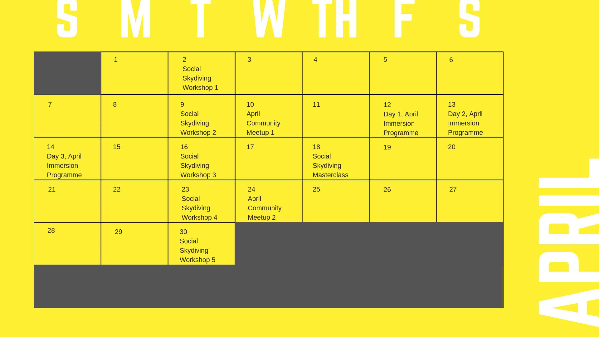 Events April