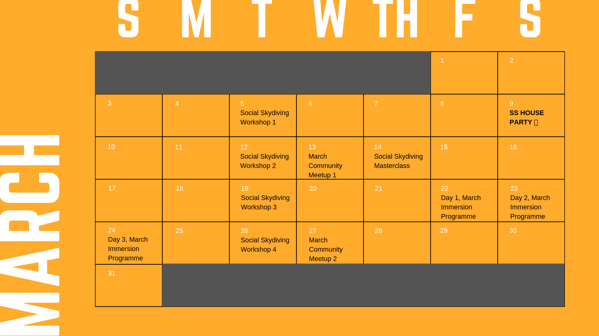 Events March